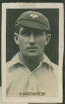 1923 CHUMS Periodical CHUMS Cricketers Abraham Waddington trade card