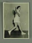 Photograph of Rae Maddern playing squash, c1950s