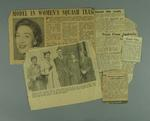 Six newspaper clippings, related to squash events in Victoria c1950s