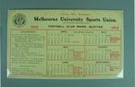 Melbourne University Sports Union Football Club memo blotter - 1913