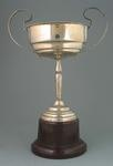 Two handled inscribed Silver Cup, C.L.C.C.,  won by Miss B. Wilson,  Bowling av. 7 - 10 1935-36.