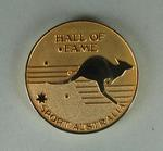 Gold Hall of Fame Sport Australia Medal with case, inscribed Betty Wilson 1926-1950.