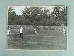 Black & White photograph of Betty Wilson batting in a State game v NSW 1946.
