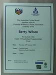 Invitation to Under 19 Australian Championships Lunch on Final day 10 January 2002
