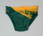 Swimming costume worn by Rob Woodhouse at the 1984 Olympic Games.
