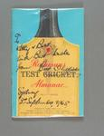 """Book, """"Rothmans Almanac, 1962/63 Test Series"""" - inscribed front cover by Bert Oldfield"""