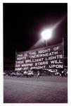 Reproduction photograph, Collingwood FC at MCG for first VFL night match - 29 March 1985