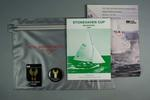 Grey zip-lock folder -  RBYC  58th Stonehaven Cup 3-13 January 1987 - competition material.