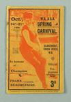Programme for WAASA spring carnival, 24-31 October 1908