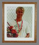 Photograph, Rob Woodhouse with bronze medal - 1984 Los Angeles Olympic Games