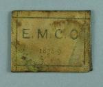 Ticket, East Melbourne Cricket Club - season 1878/79