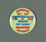 Metal badge, Centenary Test 1977