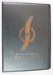 """Black plastic covers with gold embossing of the """"Sport Australia Hall of Fame"""" 2007"""