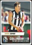 Collingwood Football Club baseball cap and 12 large Collingwood player cards