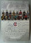 Menu and Programme - MCG Footy Season - Wednesday 19 March 2008