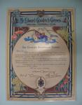 Facsimile of Brownlow Medal Certificate awarded to Mr. Edward Goodrich Greeves, Geelong Football Club, for Season 1924
