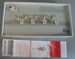 Set of 5 2008 Beijing Olympic Games souvenir Fencing pins in box with receipt