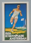 1928 Amsterdam Olympic Games poster, depicts a running athlete