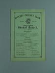 Annual report, Fitzroy Cricket Club - season 1917/18