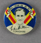 Badge with image of Len Hutton, 1950-51