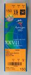 Ticket to the Softball at the 2000 Sydney Olympic Games, Softball Centre, Blacktown, Sydney West for 19 September 2000.