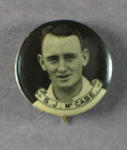 Badge with image of Stan McCabe, 1934