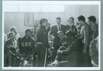 Reproduction photograph, 1956 Melbourne Olympic Games - athletes in Olympic Village