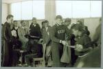 Reproduction photograph, 1956 Melbourne Olympic Games - athletes at Olympic Village