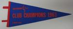 Blue felt pennant, Melbourne Club Champions 1963 A Grade, V.B.A.