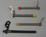 Four ice screws, used by Mick Parker