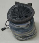 Bag with chalk for rock climbing, used by Mick Parker