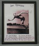 Framed photo montage of champion Australian sprinter Len Sprauge.