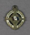 Melbourne Cricket Club membership badge, 1912/13 season