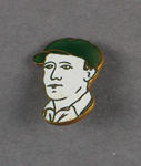 Button depicting Don Bradman, c1930s