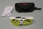 Pair of Bolle brand sunglasses with case used by Olympian Lydia Lassila at the 2010 Winter Olympic Games in Vancouver.