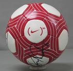 Signed match ball used in the international football (soccer) game between Australia and New Zealand, 24 May 2010.