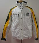 Australian Paralympic Team 2010 jacket with detachable hood worn by Eric Bickerton, guide for slalom skier Jessica Gallagher at the 2010 Paralympic Games, Vancouver.