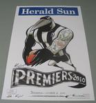 'Herald Sun' AFL Collingwood Football Club Premiers poster, caricature by Mark Knight, 2010