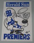 1998 North Melbourne Football Club losing premiership poster, signed by the artist, WEG (William Ellis Green).