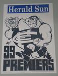 1999 Carlton Football Club losing premiership poster, signed by the artist, WEG (William Ellis Green).