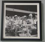 'The Sporting City, 1969/70', framed photograph of spectators in Bay 13 at the MCG, by Angus O'Callaghan, 1969/70