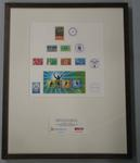 Framed set of stamps commissioned for the 1938 and 1962 Empire Games, and the 1982 and 2006 Commonwealth Games.