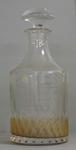 Glass decanter with stopper presented to Australian footballer Justin Madden on the occasion of his 250th senior game with the Carlton Football Club, 27 May, 1995