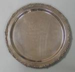 Silver salver presented to Australian footballer Justin Madden on the occasion of this 200th senior game with the Carlton Football Club, 9 May, 1993