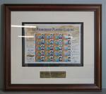 Framed AFL Premiership Players' Club commemorative Australia Post stamps, 2000