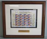 Framed AFL Premiership Players' Club commemorative Australia Post stamps, 2008