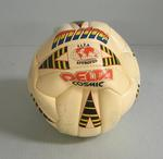 Mitre brand soccer match ball, used in the 1991 NSL Grand Final between Melbourne Croatia and South Melbourne Hellas.
