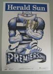 'Herald Sun' AFL Geelong Football Club Premiers poster, caricature by Mark Knight, 2011