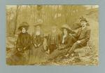 Postcard, image of unknown group in outdoors setting