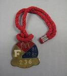 Melbourne Cricket Club Medallion, 1981/82, with red lanyard